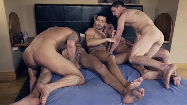 Ruslan Angelo's Five Man Bareback Orgy