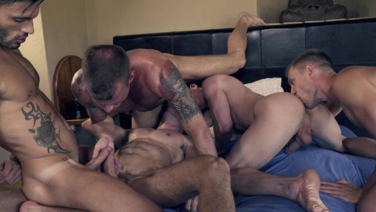 Ruslan Angelo's Five Man Bareback Orgy