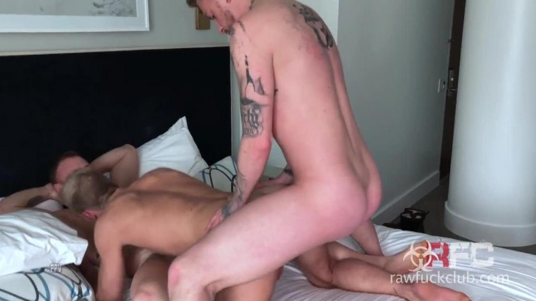 Two Dicks For One Trick - Saxon West , Jett Rink and Danny Gunn