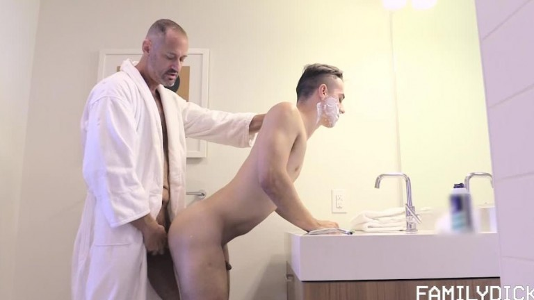 Stepdad Boyfriend, Chapter 2 - A Closer Shave (Stepdad George and Ethan Williams