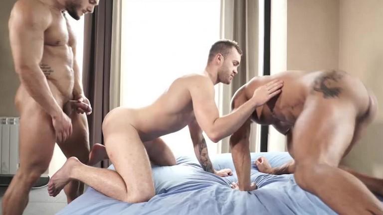 Craving Raw Dick - Brock Magnus, Diego Lauzen, And Jackson Radiz Flip-Fuck