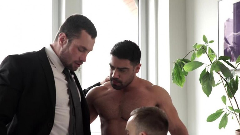 Gentlemen 23: White Collar Breeders (Scene 2) Stas Landon, Jackson Radiz, And Wagner Vittoria Flip-Fuck