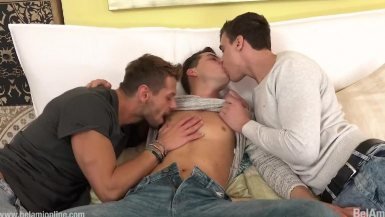 Joel Birkin fucks Rhys Jagger and Joaquin Arrenas