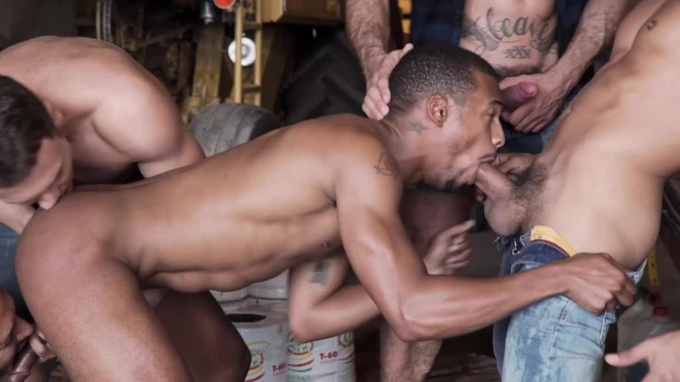 Raw Roughnecks Viktor Rom Leads Jacen Zhus Bareback Gang Bang