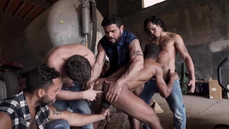 Raw Roughnecks Viktor Rom Leads Jacen Zhus Bareback Gang Bang