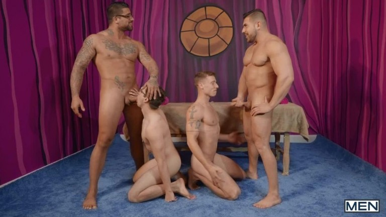 Men Bang, Part 4 - Ryan Bones, Will Braun, Justin Matthews, Damien Stone