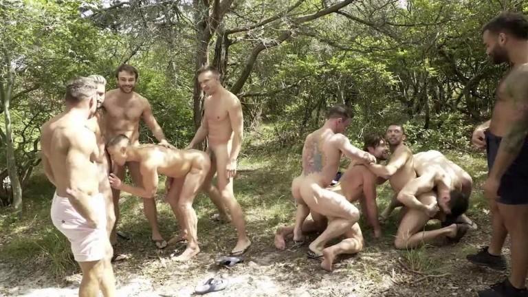 Man Fire Island Bareback Orgy