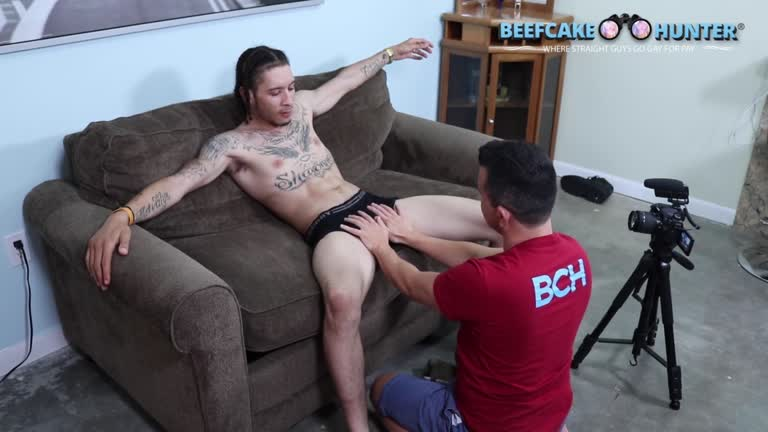 Worshipping Savage's Monster Cock