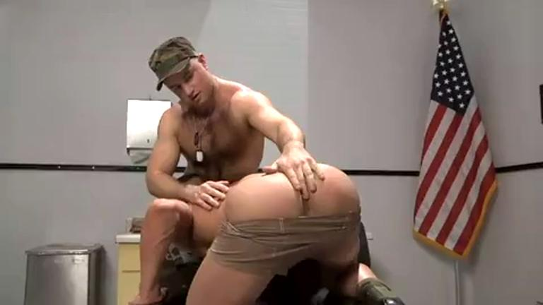 Soldiers shave their hair and then fuck in the ass