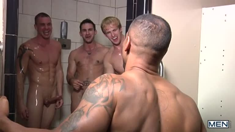 Orgia no Vestiário (Adam Bryant, Cameron Foster, Darin Silvers, Phenix Saint e Robert Axel)