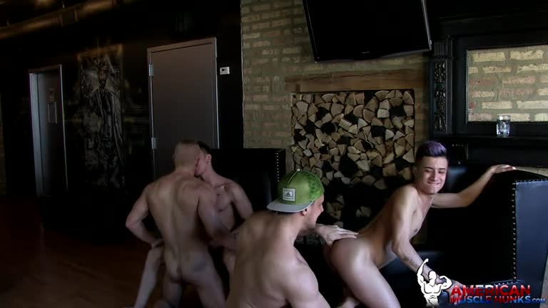 AmericanMuscleHunks - Cory Prince, Angel Cruz, Joey D & Johnny V