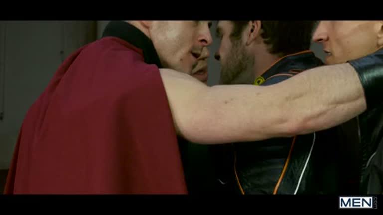 X-Men Gay: Part 4 – A suruba dos mutantes (Colby Keller, Landon Mycles, Paddy O'Brian, Brenner Bolton, Mike De Marko e P