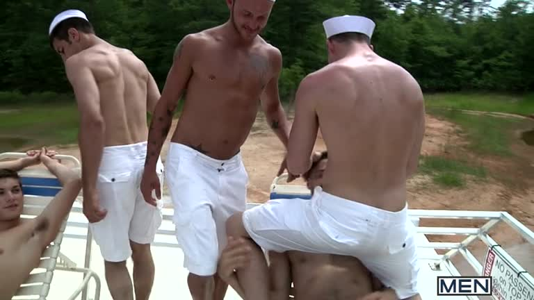 MEN - Suruba no Barco - Jizz Orgy - Gay Boat - Blaze, Johnny Rapid, Tommy Defendi, Hayden Richards, Chip Young, James