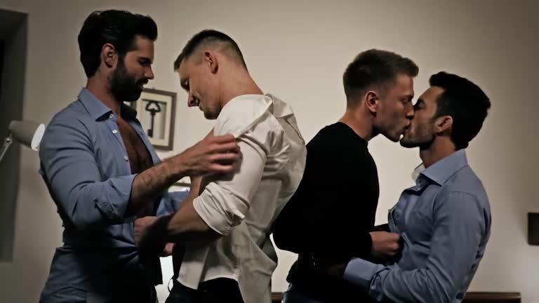 Bareback Orgy - Andy Star, Dani Robles, Andrey Vic and Bogdan
