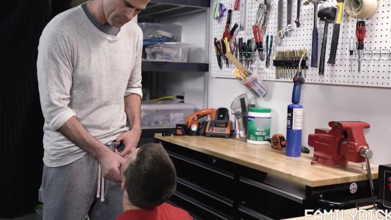 Family Dick - Tough Love For His Boy - Chapter 1 - Dad's Tool Bench
