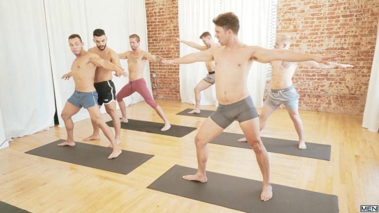 MEN - Yoga - Arad Winwin, Casey Jacks, Jacob Peterson, Leo Luckett, Leon Lewis, Wesley Woods