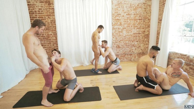 MEN - Yoga - Arad Winwin, Casey Jacks, Jacob Peterson, Leo Luckett, Leon Lewis, Wesley Woods