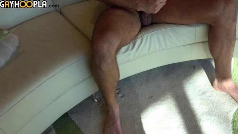 Tan Hairy Jock Mathieu Sire Jerks OFF And CUMS