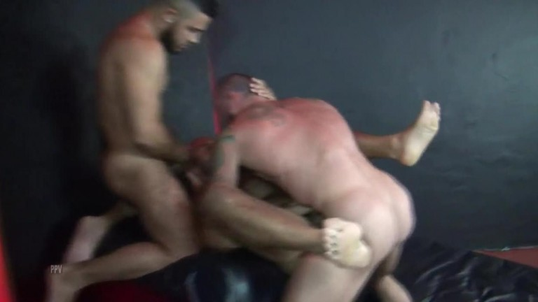 Leo Forte got Gangbanged and Double Fucked by Sean Duran, Brett Bradley and Mario Cruz