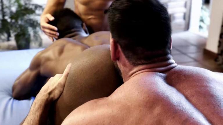 Billy Santoro And Klim Gromov Share Pheonix Fellington's Big Black Cock